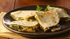 Looking for an easy Mexican entrée? Check out these 30-minute quesadillas—they'd also be popular party fare.