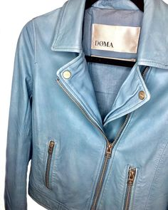 Our newest obsession       #MyBottega #shopsatshilohcrossing #style #fashion #chic #ootd #ootn #simple #classic #summertime #summer #Weekday #Thursday #weekdayvibes #shop #confidence #confident #beauty #shoplocal #jackets #doma #blue #jacket #leather
