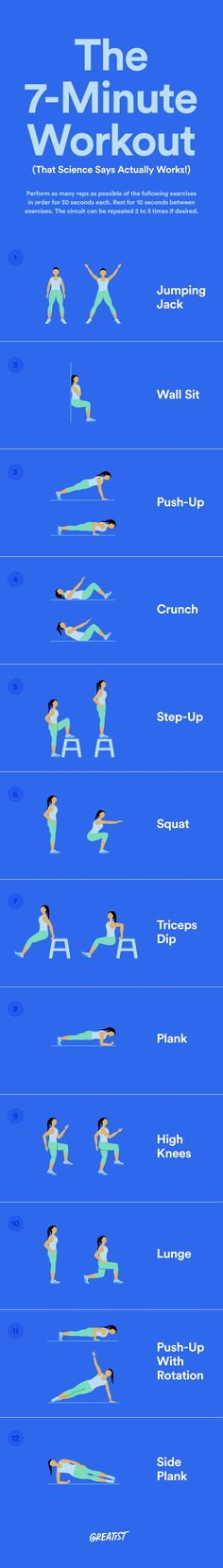 All you need is a chair and a wall.  #greatist http://greatist.com/move/7-minute-workout-that-science-says-works
