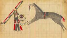 Cheyenne/Arapaho ledger drawing