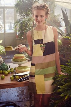 Silk Tableau Shift #anthropologie