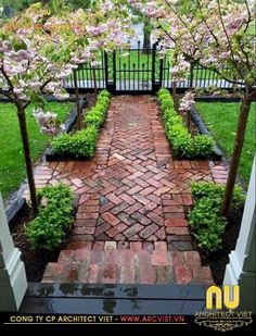 9 All Time Best Ideas: Backyard Garden Patio Trees backyard garden pergola hot tubs.Backyard Garden Design How To Make backyard garden inspiration patio. Front Yard Landscaping, Backyard Patio, Landscaping Ideas, Backyard Ideas, Courtyard Landscaping, Backyard Privacy, Walkway Ideas, Brick Walkway, Pavers Ideas