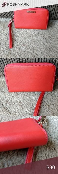 *Sale* Stella & Dot red wristlet Red wallet with pink interior. Stella & Dot Bags