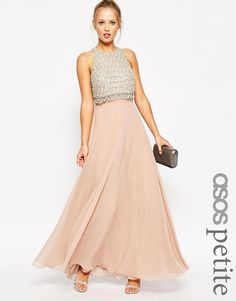 ASOS Petite | ASOS PETITE Embellished Crop Top Maxi Dress at ASOS