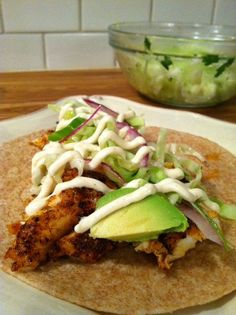 Fish Tacos with Cabbage Slaw and Remoulade and a beach trip!