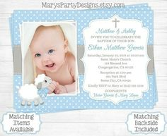 Baptism and First Birthday Invitations . Baptism and First Birthday Invitations . Lamb Baptism Invitation Boy First Birthday Christening Baptism Invitation Wording, Baby Dedication Invitation, Christening Invitations Boy, Invitation Layout, Invitation Background, First Birthday Invitations, Birthday Invitation Templates, Invitation Cards, Invitation Ideas