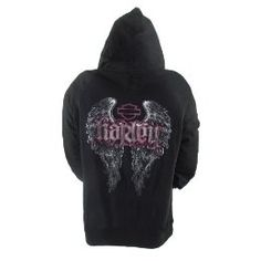 WINGS! Fly Free with a Harley-Davidson Overseas Tour Zip-Up Hoodie for Women!