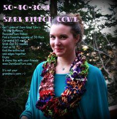 one skein cowl 004  Sari Ribbon Yarn