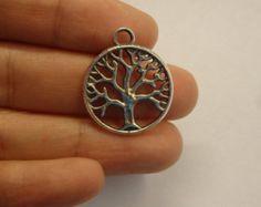 10 tree of life charm pendant silver tone tibetan silver wholesale