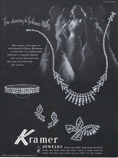 Kramer jewelry ad 'Fire dancing to Fashion's Waltz'