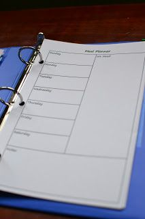 Meal Planning Binder.  I might find a way to incorporate something like this in my Shrinking On a Budget Meal Plans.  Love it!
