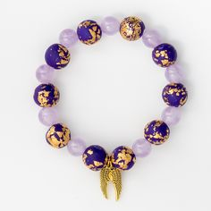 Archangel Zadkiel is the Angel of Purification. This angel is closely associated with the crystal Amethyst, and is often referred to this Angel's Twin Flame. Together Archangel Zadkiel and Amethyst br Archangel Zadkiel, Angel Wing Bracelet, Polymer Clay Beads, Amethyst Crystal, Spirit Animal, Crystal Jewelry, Rose Quartz, Jasper, Beaded Bracelets