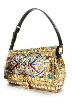 Dolce & Gabbana Allover Jeweled Shoulder Bag