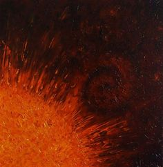 """Flare"" Oil on Canvas 12""x12""  Original artwork by Karen Balon"
