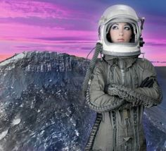 Photo about Astronaut woman futuristic metaphor moon out space planets. Image of isolated, pensive, beautiful - 14061655 Space Captain, Space Planets, Creative Icon, Historical Fiction, Book Cover Design, Photo Illustration, Photo Library, Houston, The Past