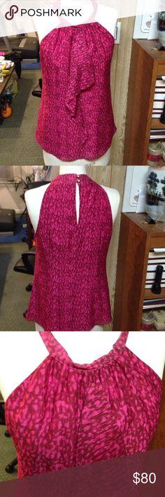 Ann Taylor silk top Sz 8 Nwt 100%silk. Side zipper. Back has two good buttons Ann Taylor Tops Tank Tops