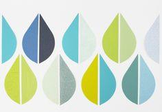 Tapetenaufkleber+Tropfen,+20+Stück+TRO+004+von+melamei+auf+DaWanda.com
