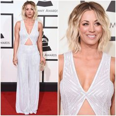 """The 58th Annual Grammy Awards: ________________________________________ Kaley Cuoco in Naeem Khan ________________________________________ From the…"""