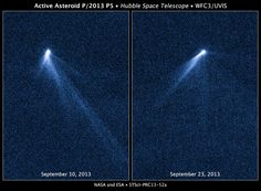 Hubble collected several images of weird asteroid P/2013 P5 this September