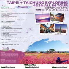 INCREDIBLE DISCOVERY TOUR OF AMUSEMENT PARK IN TAIWAN (With Round Trip Airfare via EVA Airlines) Minimum of 2 persons  For more inquiries please call: Landline: (+63 2)282-6848 Mobile: (+63) 918-238-9506 or Email us: info@travelph.com #Taiwan #TravelPH #TravelWithNoWorries Travel Companies, Travel Tours, Round Trip, Taipei, Amusement Park, Travel Agency, Tour Guide, Discovery, Exploring
