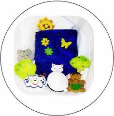 Creation bag with felt softies