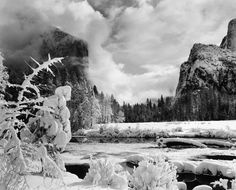 Ansel Adams is a nature photographer, and this is a great example of his work. He loves taking photos of brilliant icy landscapes.