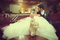 Wedding picture idea for Thank You notes
