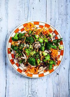 Stir-fry sesame chicken and carrot noodles | Hemsley + Hemsley Recipe - Red Online