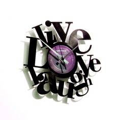 OMG!! i love this clock  Live Love Laugh Clock, $62, now featured on Fab.  -- LOVE
