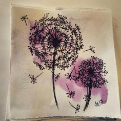 Bohemian Ink Studios on Etsy. Zentangle, sketch, doodles, dandelions, pen and watercolour