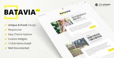 Batavia | A Fresh WordPress Personal Blog Theme . Batavia is Beautiful, Clean and Easy to customize. It's built with high design aesthetic. Batavia comes with great typography design by default. It has Smooth animation and transitions for both UI & UX. Makes this theme really exceptional.