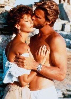 """Jeff Bridges & Rachel Ward """"Against All Odds."""" Theme by Phil Collins. Rachel Ward, Jeff Bridges, Mademoiselle De Maupin, Phill Collins, Sport Tv, Bon Film, Image Film, Cinema, Famous Couples"""