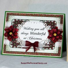 Heartfelt Creations Christmas card