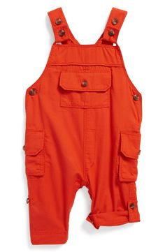 Tucker + Tate Roll-Up Overalls (Baby Boys)