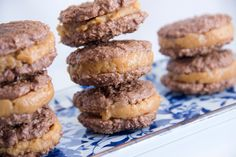 Skinny Chocolate Oatmeal and Peanut Butter Cookie Sandwiches