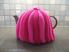 Tea Cosy Cozy Knitting Pattern by knitshearbliss on Etsy Tea Cosy Knitting Pattern, Tea Cosy Pattern, Knitting Yarn, Tea Cozy, Coffee Cozy, Crochet Mug Cozy, Knit Crochet, Alter Pullover, Cozy Blankets