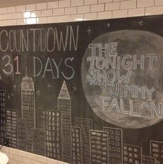 The Late Night interns made our kitchen chalkboard beautiful!