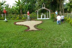 Jardín de María, sitio de devoción visitado por cientos de fieles.