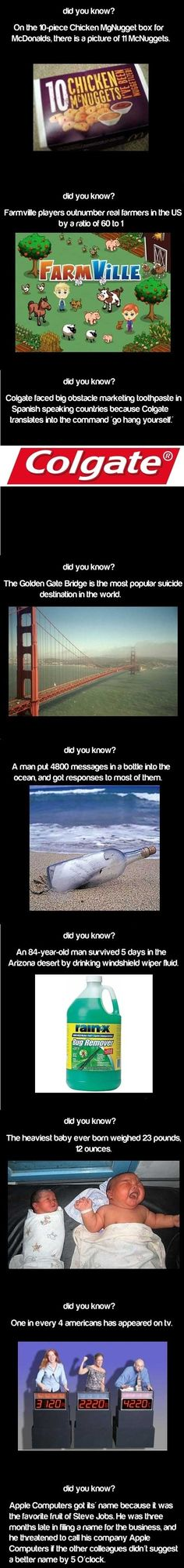FUNNY Facts - Click image to find more Humor Pinterest pins