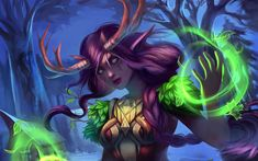 Download wallpapers Night Elf, World of Warcraft, art, WoW