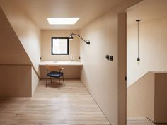 61AMR is a minimal home located in London, United Kingdom, designed by WIDGER Architecture. Situated on a residential street in Walthamstow, the property previously was difficult to inhabit and utilize due to awkward wall and ceiling plains. These spaces have undergone a transformation into bedroom and studios that creates calm and serene interiors. The design approach took the existing forms, folds and edges and not only improved but also embraced them, attaching new complementary angular…