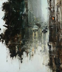 "Hsin-Yao Tseng b. 1986, Taipei, Taiwan Composition #2 Oil on Panel 24""x24"" 2009 (Priviate Collection)"