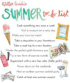 Glitter Guide's Summer To-Do List