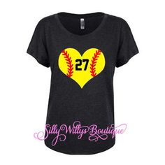 Softball Mom Shirt Softball Mom Tee Softball Heart ($22) ❤ liked on Polyvore featuring tops, black, tanks, women's clothing, glitter top, heart shirt, dolman top, relax shirt and dolman shirt
