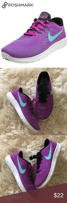 NIKE FREE RN SNEAKERS 5Y Pre owned big girl NIKE FREE RN sneakers.  Size 5Y.  Purple/white colors.  Good condition ( normal scuffs on sole from normal use) Nike Shoes Sneakers Nike Shox Shoes, Shoes Sneakers, Nike Outlet, White Colors, Shoe Sale, Nike Free, Nike Air Max, Nike Women, Fashion Design