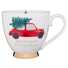 Traditional Christmas Mug - Driving Home for Christmas | B&M