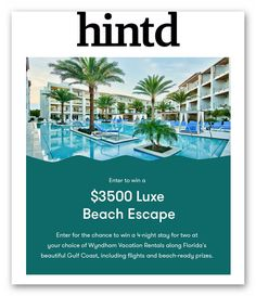 Win a $3500 Luxe Beach Escape – Ends August 30th #sweepstakes https://www.goldengoosegiveaways.com/win-3500-luxe-beach-escape-ends-august-30th?utm_content=buffere6240&utm_medium=social&utm_source=pinterest.com&utm_campaign=buffer
