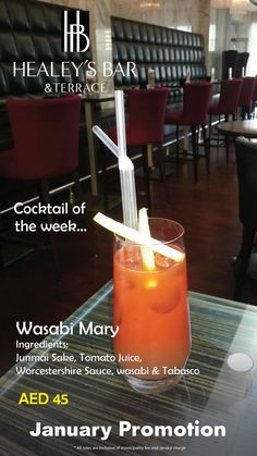 Some other specials for January! Cocktail of the 1st week at Healey's - Wasabi Mary
