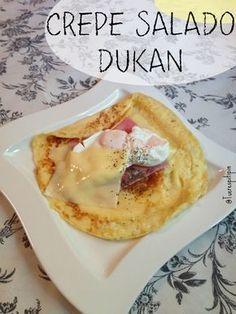Crepe Salado Dukan {from cruise phase} - Dieta - Blood Type Diet, Dukan Diet, I Foods, Food And Drink, Healthy Recipes, Breakfast, Blog, Diabetes, Tofu