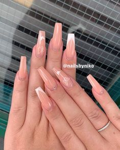 Bling Acrylic Nails, Acrylic Nails Coffin Short, Square Acrylic Nails, Simple Acrylic Nails, Best Acrylic Nails, Simple Nails, Acylic Nails, Classic Nails, Fire Nails